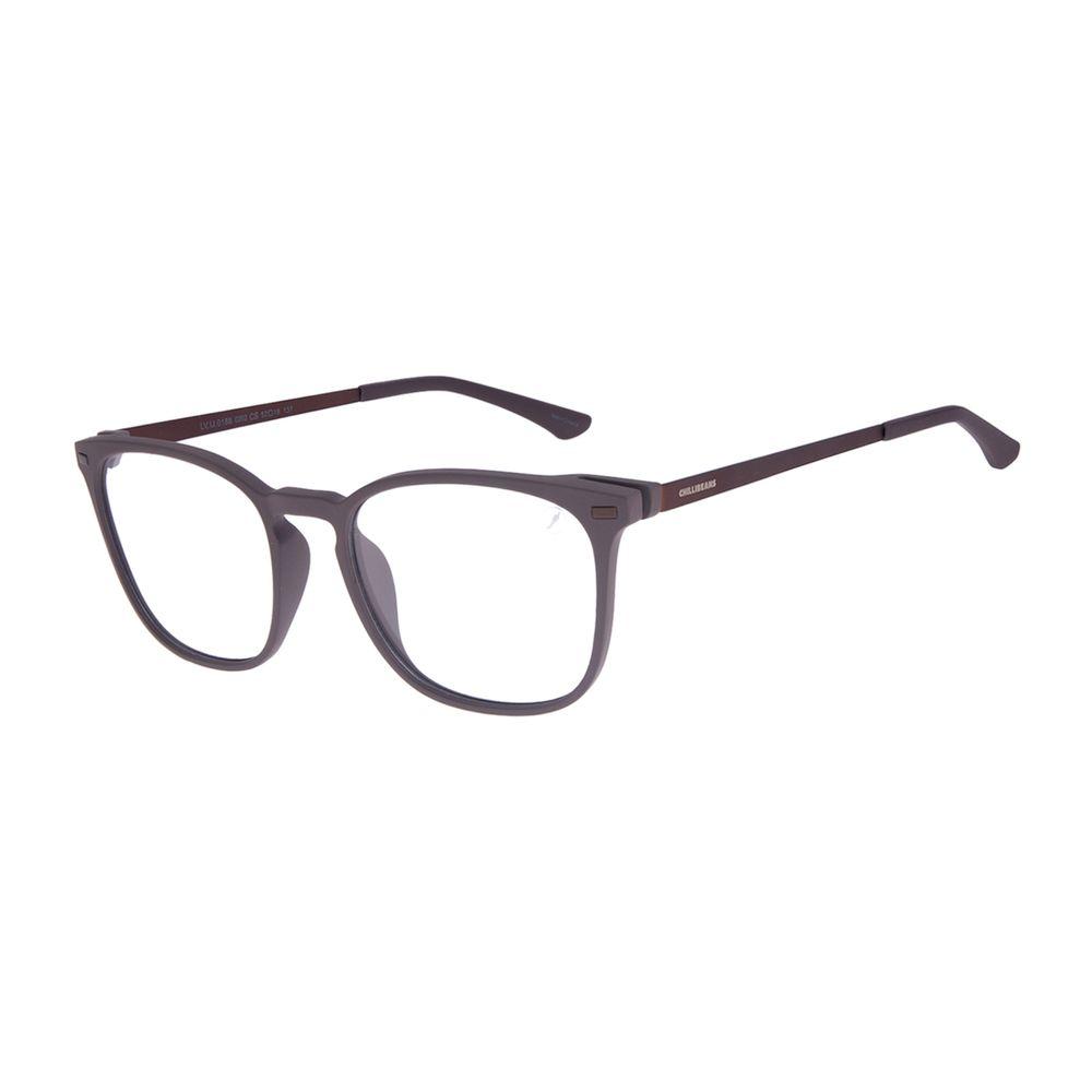 Armação Para Óculos de Grau Masculino Chilli Beans Quadrado Masculino Marrom LV.IJ.0188-0202
