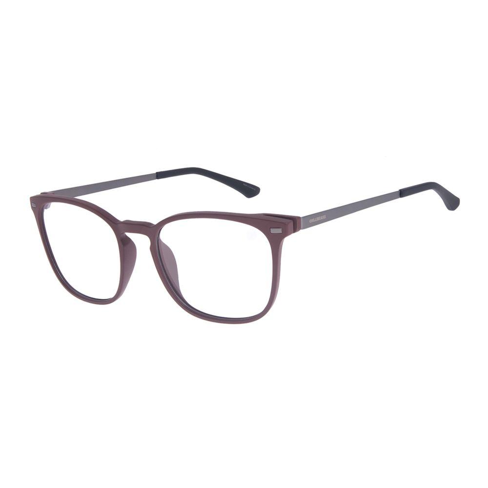 Armação Para Óculos de Grau Masculino Chilli Beans Quadrado Masculino Vinho LV.IJ.0188-1722