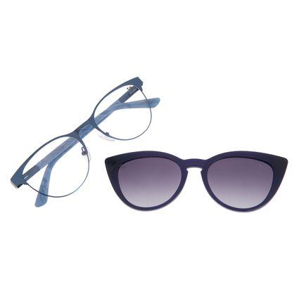 Armação Para Óculos de Grau Feminino Chilli Beans Multi Cat Polarizado Azul Claro LV.MU.0199-2059