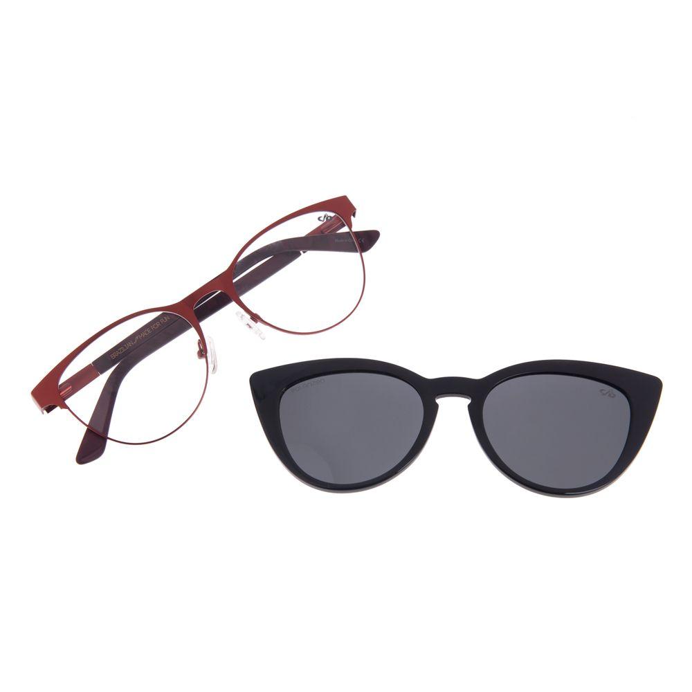 Armação Para Óculos de Grau Feminino Chilli Beans Multi Cat Polarizado Vinho LV.MU.0199-0117