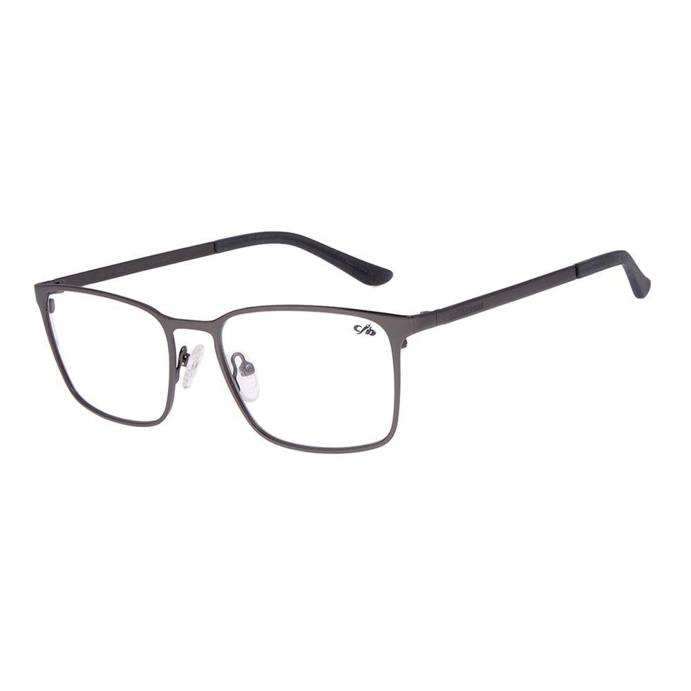 Armação Para Óculos de Grau Masculino Chilli Beans Quadrado Metal Fosco Ônix LV.MT.0493-2222