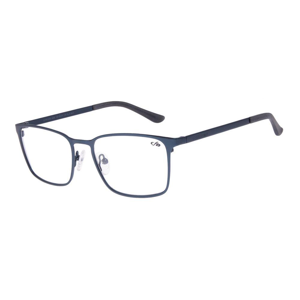 Armação Para Óculos de Grau Masculino Chilli Beans Quadrado Metal Fosco Azul Escuro LV.MT.0493-9090