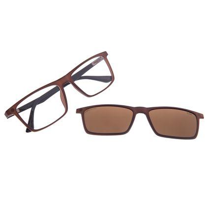 Armação Para Óculos de Grau Masculino Chilli Beans Multi Marrom LV.MU.0456-0202