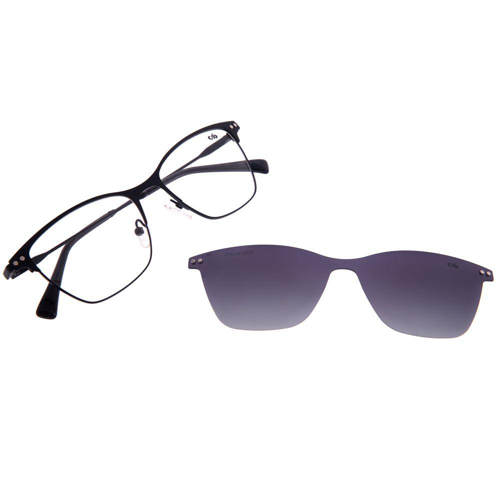 Armação Para Óculos de Grau Feminino Chilli Beans Multi Cat Metal Preto LV.MU.0478-2001