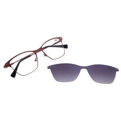 Armação Para Óculos de Grau Feminino Chilli Beans Multi Cat Metal Marrom LV.MU.0478-2002