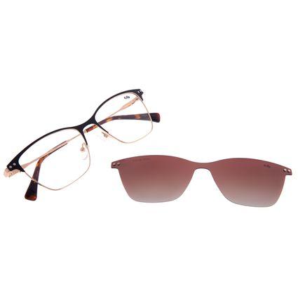 Armação Para Óculos de Grau Feminino Chilli Beans Multi Cat Metal Dourado LV.MU.0478-5721