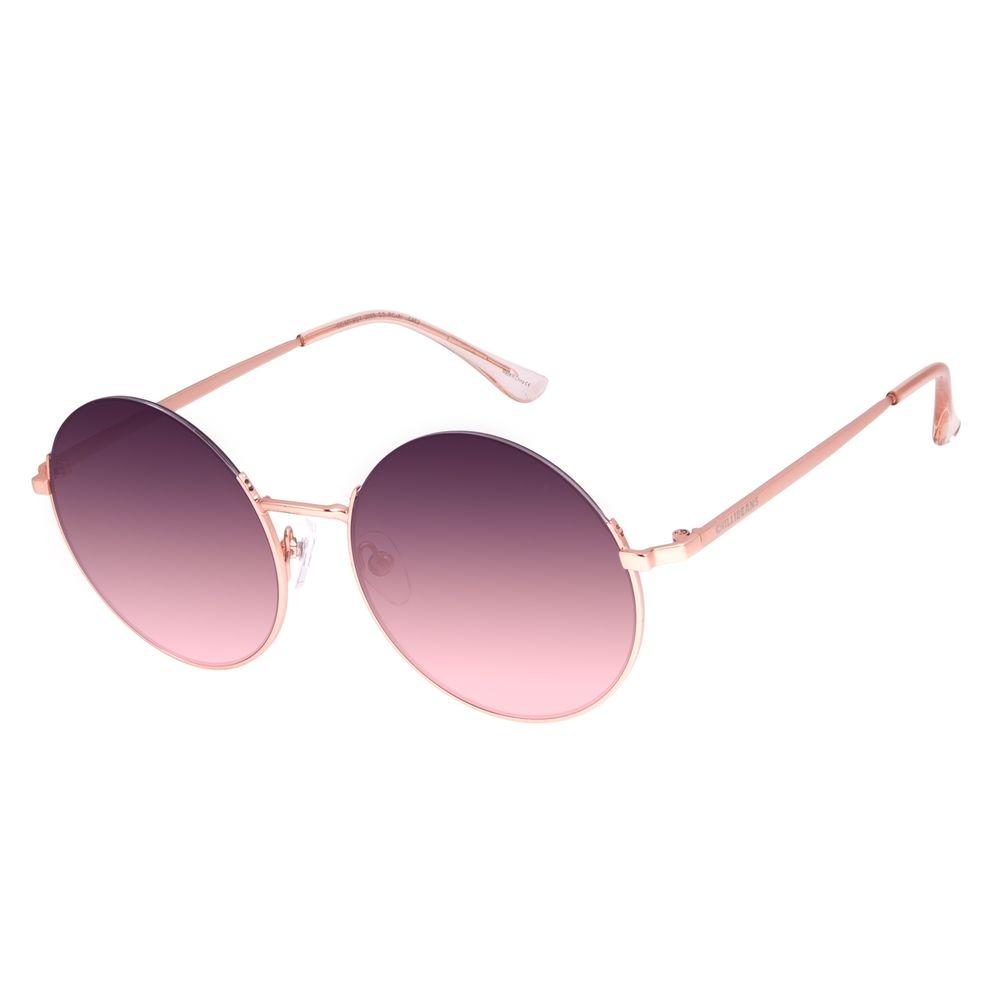 Óculos de Sol Feminino Chilli Beans Redondo Metal Casual Rosé OC.MT.3024-2095