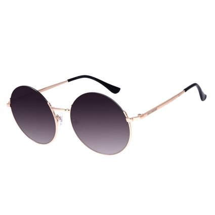 Óculos de Sol Feminino Chilli Beans Redondo Metal Casual Dourado OC.MT.3024-0521