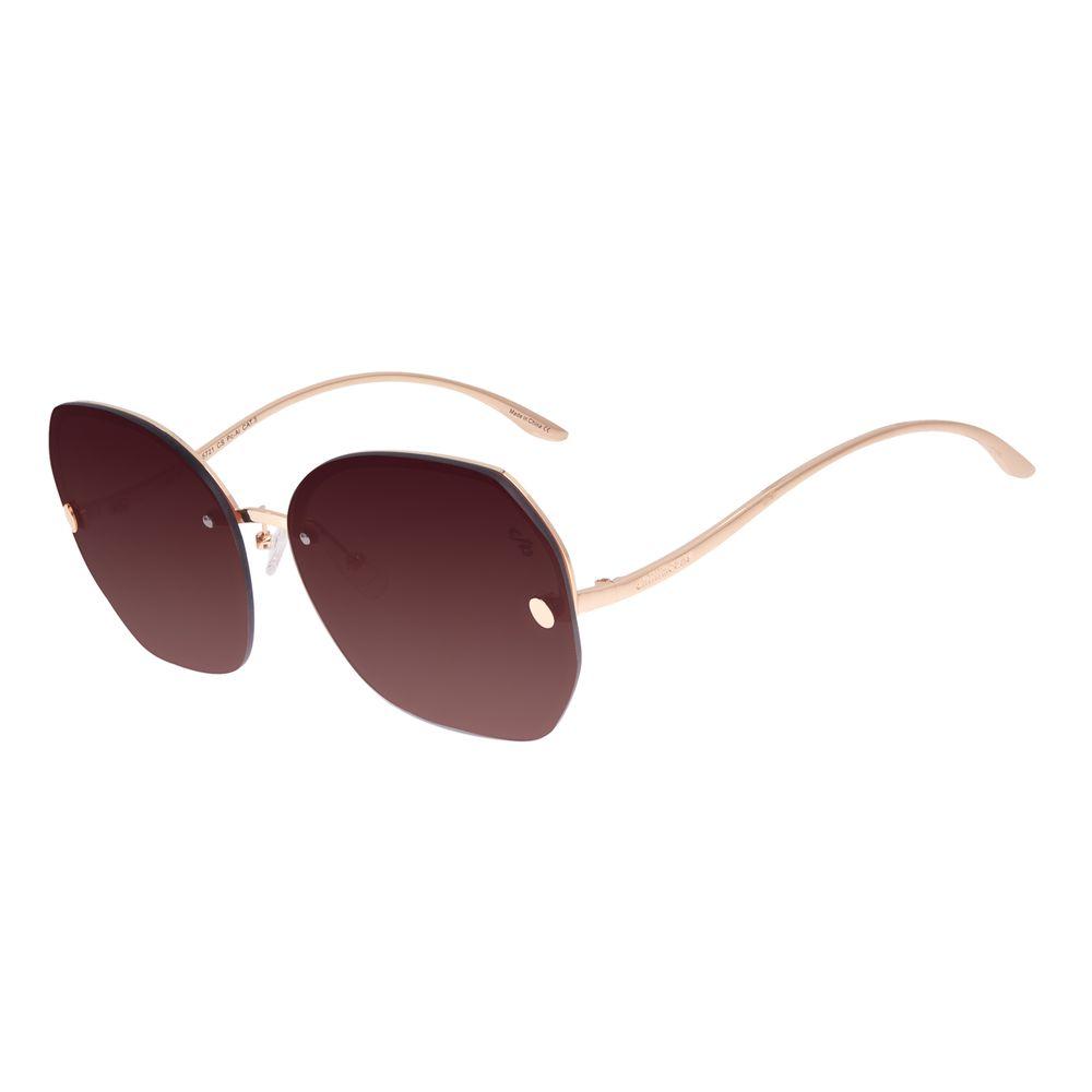 Óculos de Sol Feminino Chilli Beans Redondo Fashion Dourado OC.MT.3021-5721