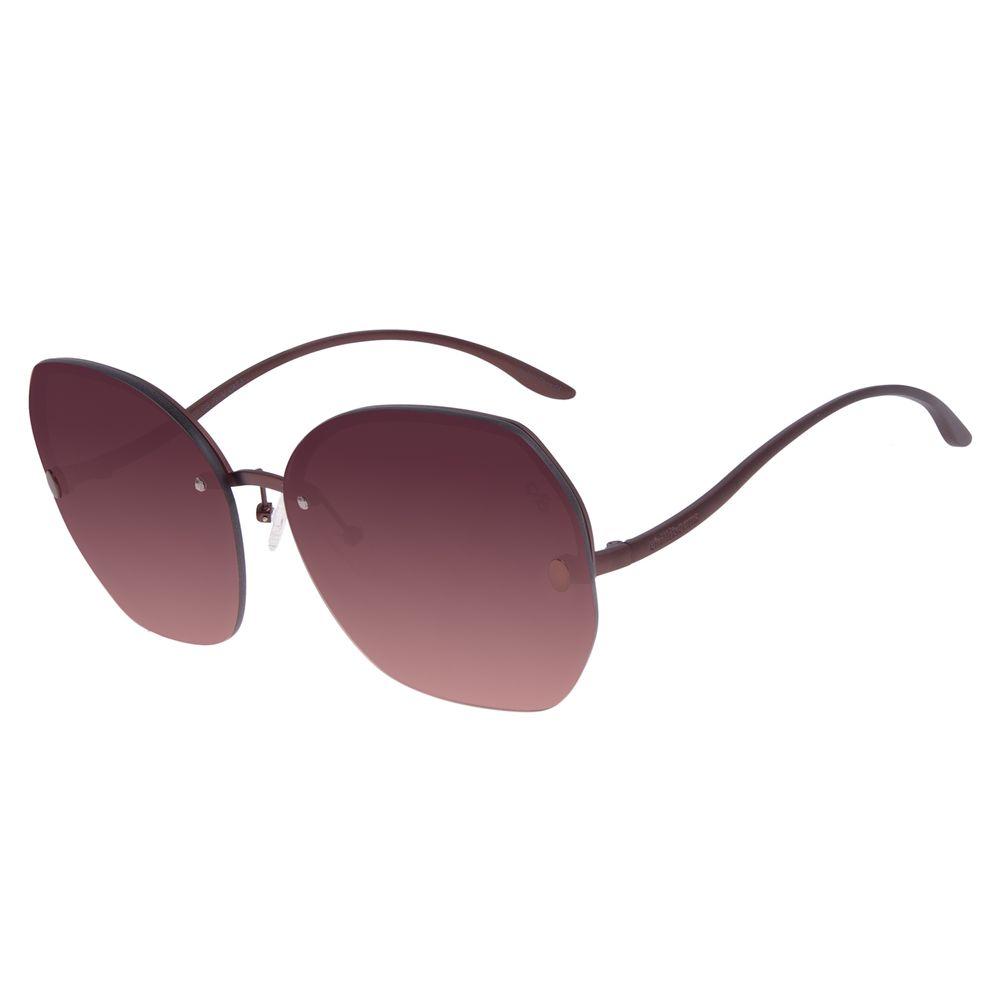 Óculos de Sol Feminino Chilli Beans Redondo Fashion Marrom OC.MT.3021-5702