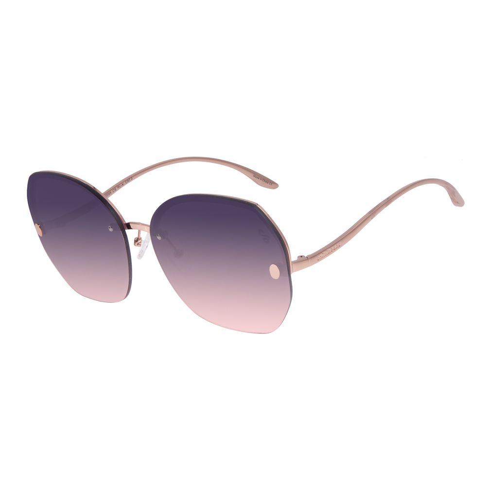 Óculos de Sol Feminino Chilli Beans Redondo Fashion Rosé OC.MT.3021-2095