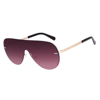 Óculos de Sol Feminino Chilli Beans Máscara Metal Fashion Degradê Marrom OC.MT.3004-5721