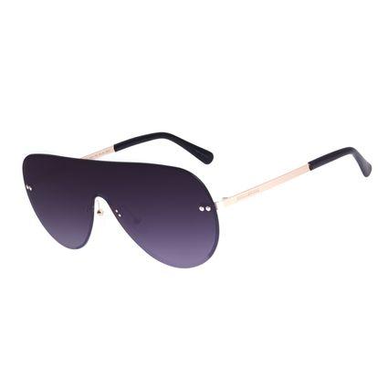 Óculos de Sol Feminino Chilli Beans Máscara Metal Fashion Dourado OC.MT.3004-2021