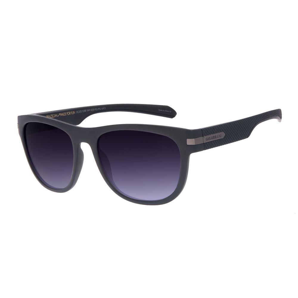 Óculos de Sol Masculino Chilli Beans New Sport Fosco Fumê OC.ES.1256-0501