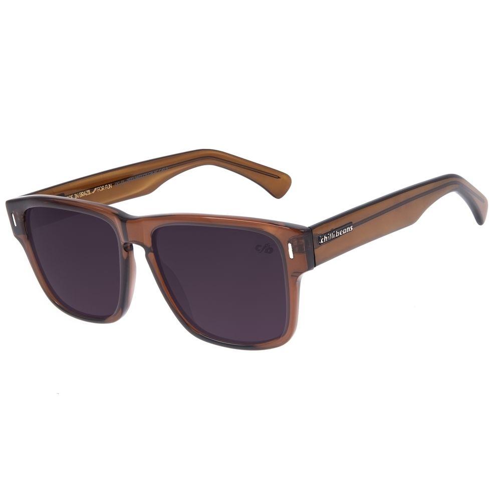 Óculos de Sol Masculino Chilli Beans Quadrado Marrom OC.CL.2972-0402