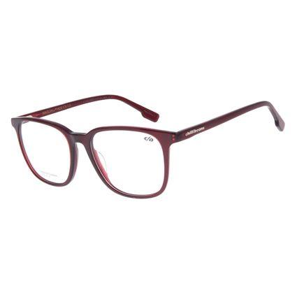 Armação Para Óculos de Grau Unissex Chilli Beans Quadrado Vinho LV.AC.0661-1717