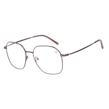Armação Para Óculos de Grau Feminino Chilli Beans Metal Marrom LV.MT.0482-0202