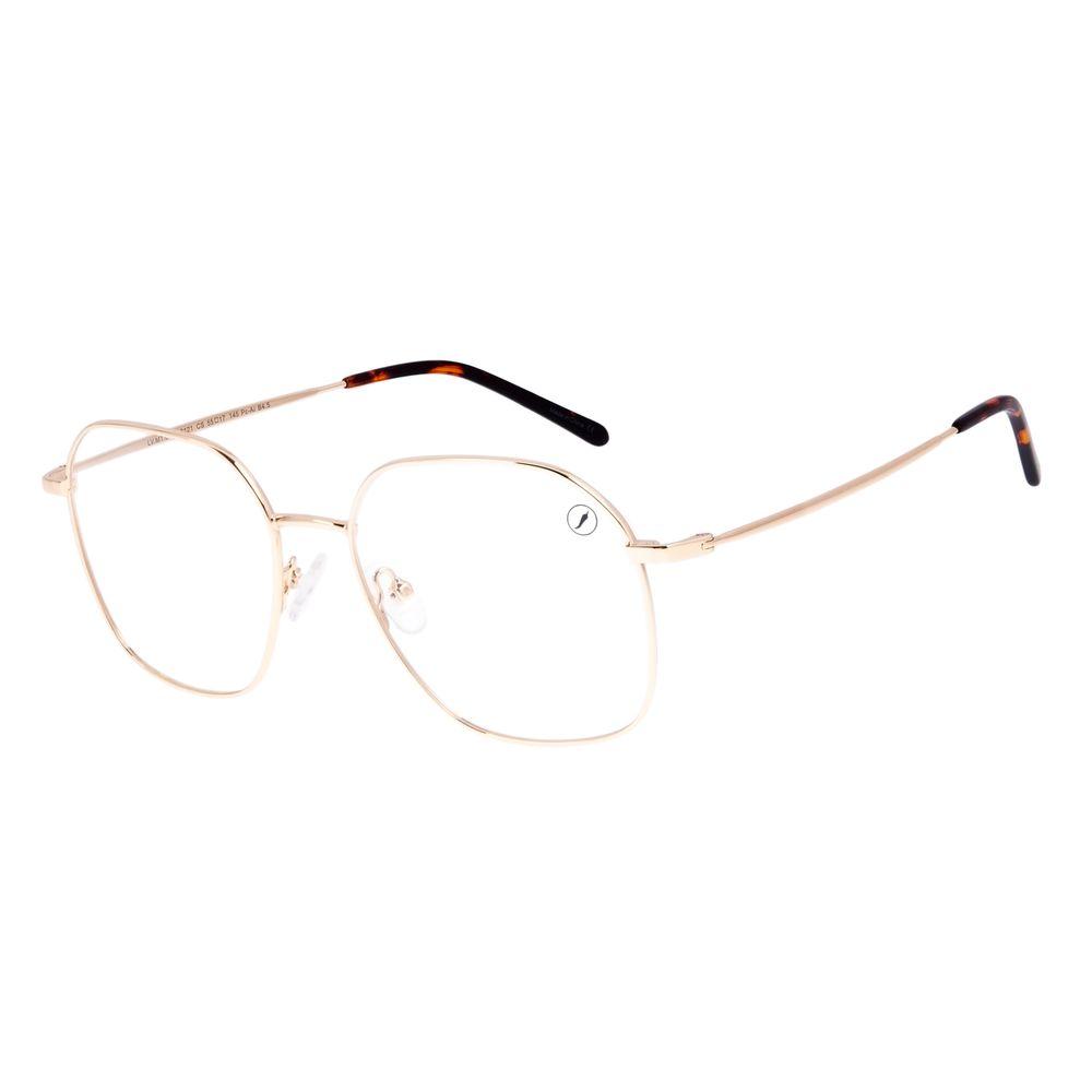 Armação Para Óculos de Grau Feminino Chilli Beans Metal Dourado LV.MT.0482-2121