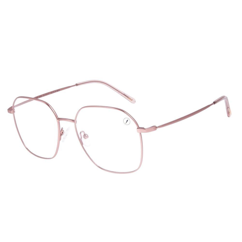 Armação Para Óculos de Grau Feminino Chilli Beans Metal Rosé LV.MT.0482-9595
