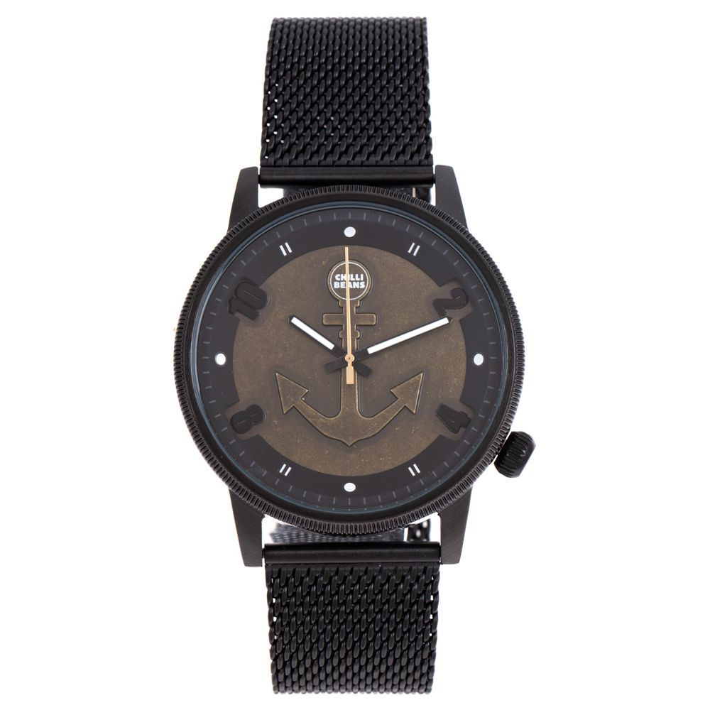 Relógio Analógico Masculino Mar.É Âncora Preto RE.MT.1181-0101