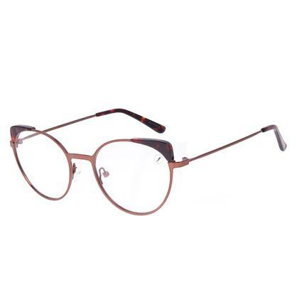 Armação Para Óculos de Grau Feminino Chilli Beans Cat Marrom LV.MT.0486-0202