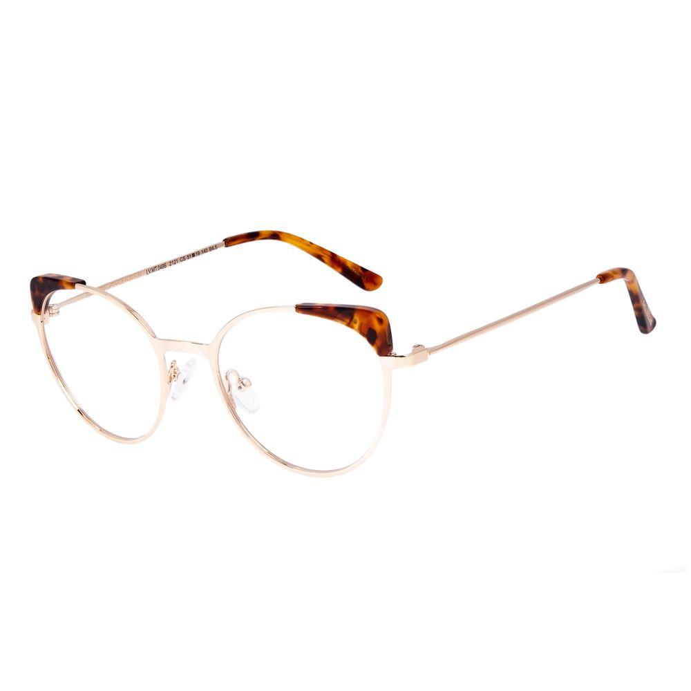 Armação Para Óculos de Grau Feminino Chilli Beans Cat Dourado LV.MT.0486-2121