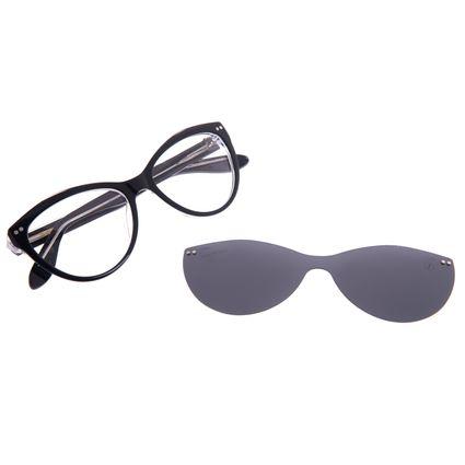 Armação Para Óculos de Grau Feminino Chilli Beans Cat Multi Polarizado Preto LV.MU.0516-0101