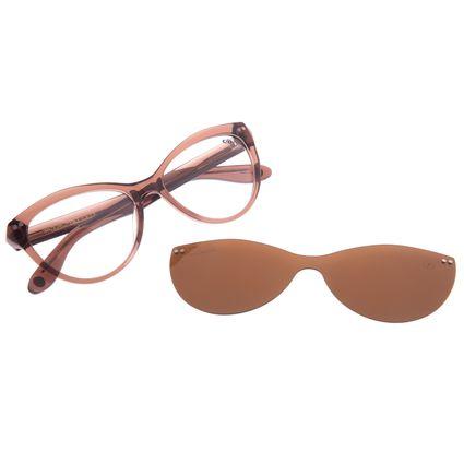 Armação Para Óculos de Grau Feminino Chilli Beans Cat Multi Polarizado Marrom LV.MU.0516-0202