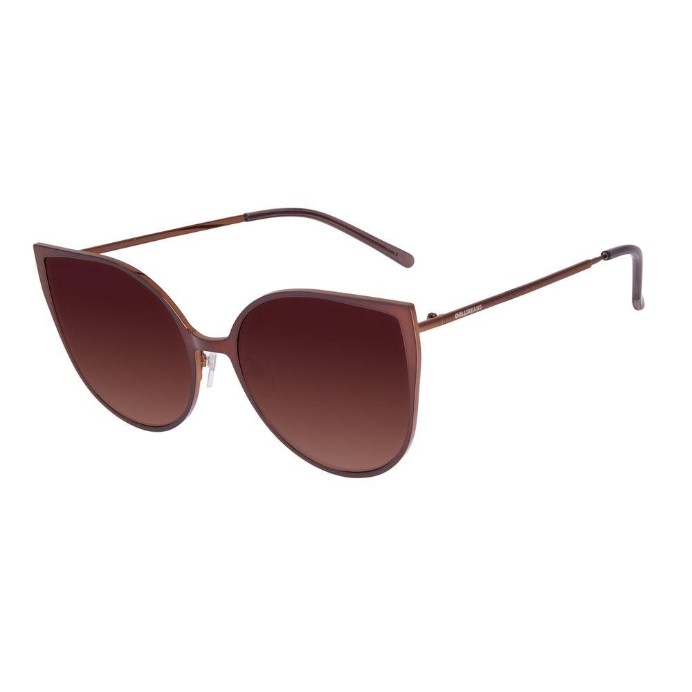 Óculos De Sol Feminino Chilli Beans Gatinho Degradê Marrom OC.MT.2646-5702