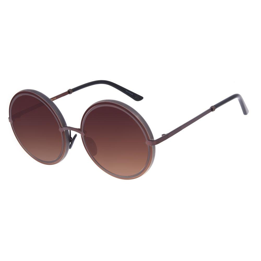 Óculos de Sol Feminino Máxi Chilli Beans Blk Metal Marrom Escuro OC.MT.2638-5747