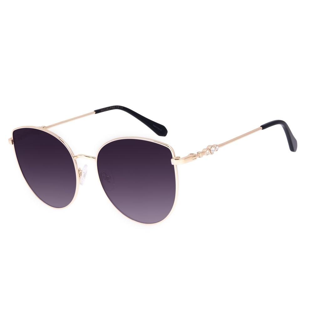 Óculos de Sol Feminino Swarovski Dia dos Namorados Cat Dourado OC.MT.3057-2021