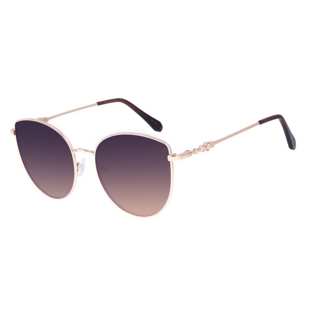 Óculos de Sol Feminino Swarovski Dia dos Namorados Cat Degradê Marrom OC.MT.3057-5721