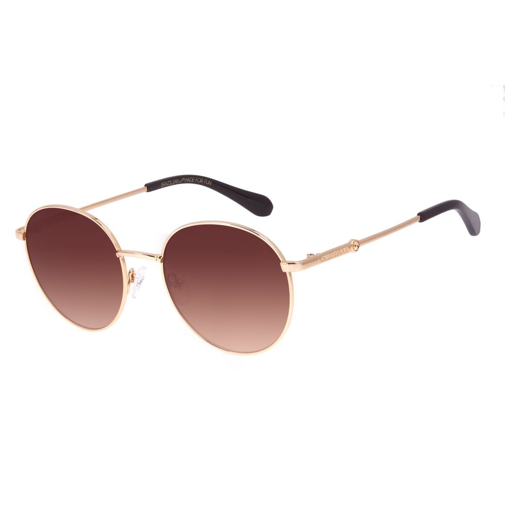 Óculos de Sol Feminino Swarovski Dia Dos Namorados Redondo Dourado OC.MT.3056-0321