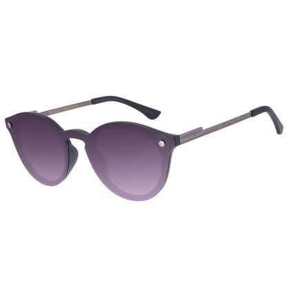 Óculos de Sol Unissex Alok Dia dos Namorados Redondo Preto OC.CL.3292-2001