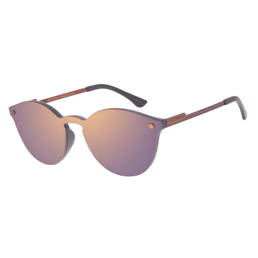 Óculos de Sol Unissex Alok Dia dos Namorados Redondo Marrom OC.CL.3292-5702
