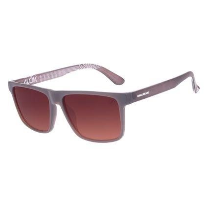 Óculos de Sol Masculino Alok Classics.Tech Dia dos Namorados Marrom OC.CL.3273-0202