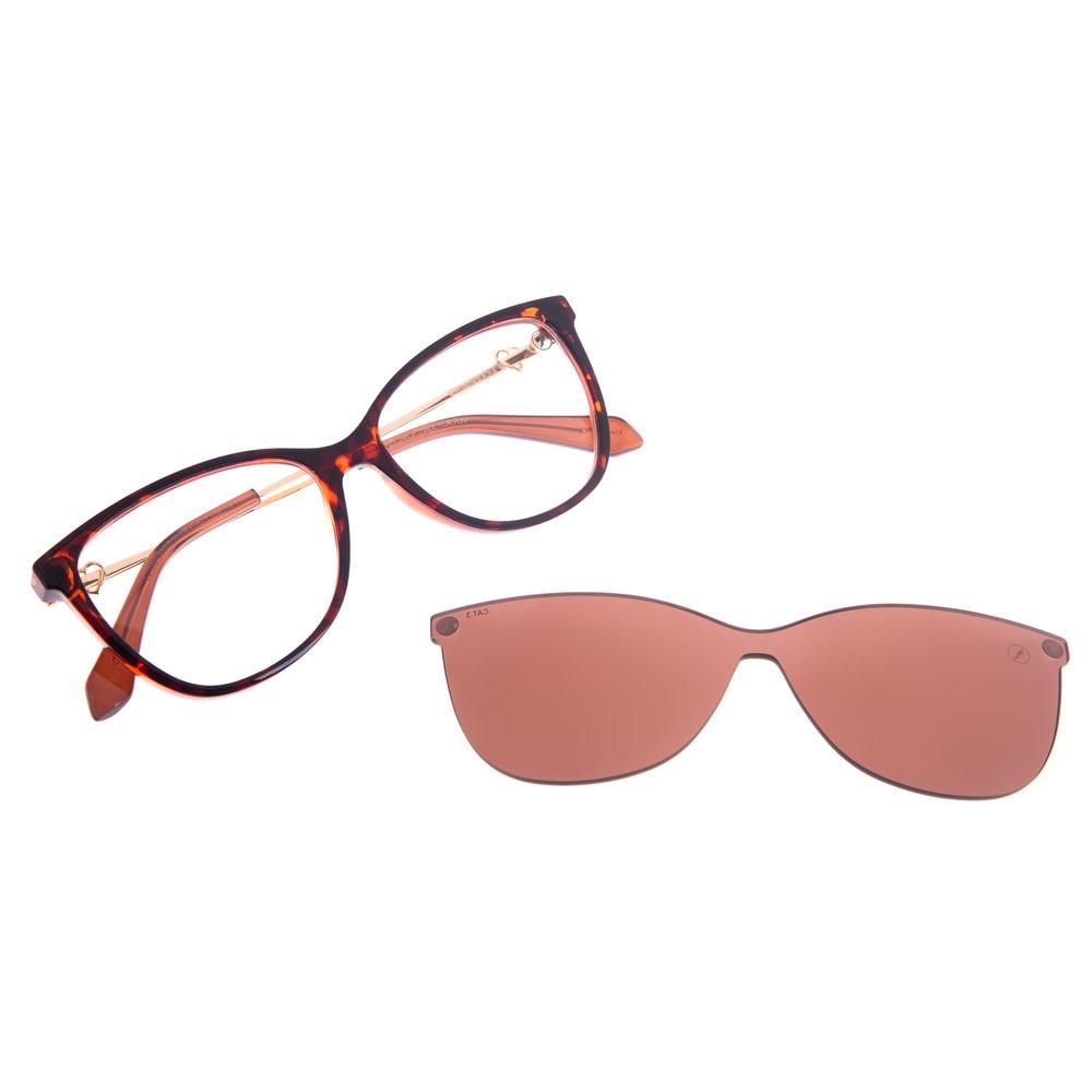 Armação para Óculos de Sol Feminino Swarovski Dia dos Namorados Multi Rosé LV.MU.0531-0295