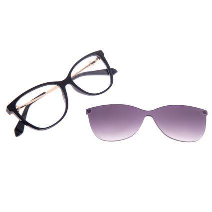 Armação para Óculos de Sol Feminino Swarovski Dia dos Namorados Multi Preto LV.MU.0531-2001