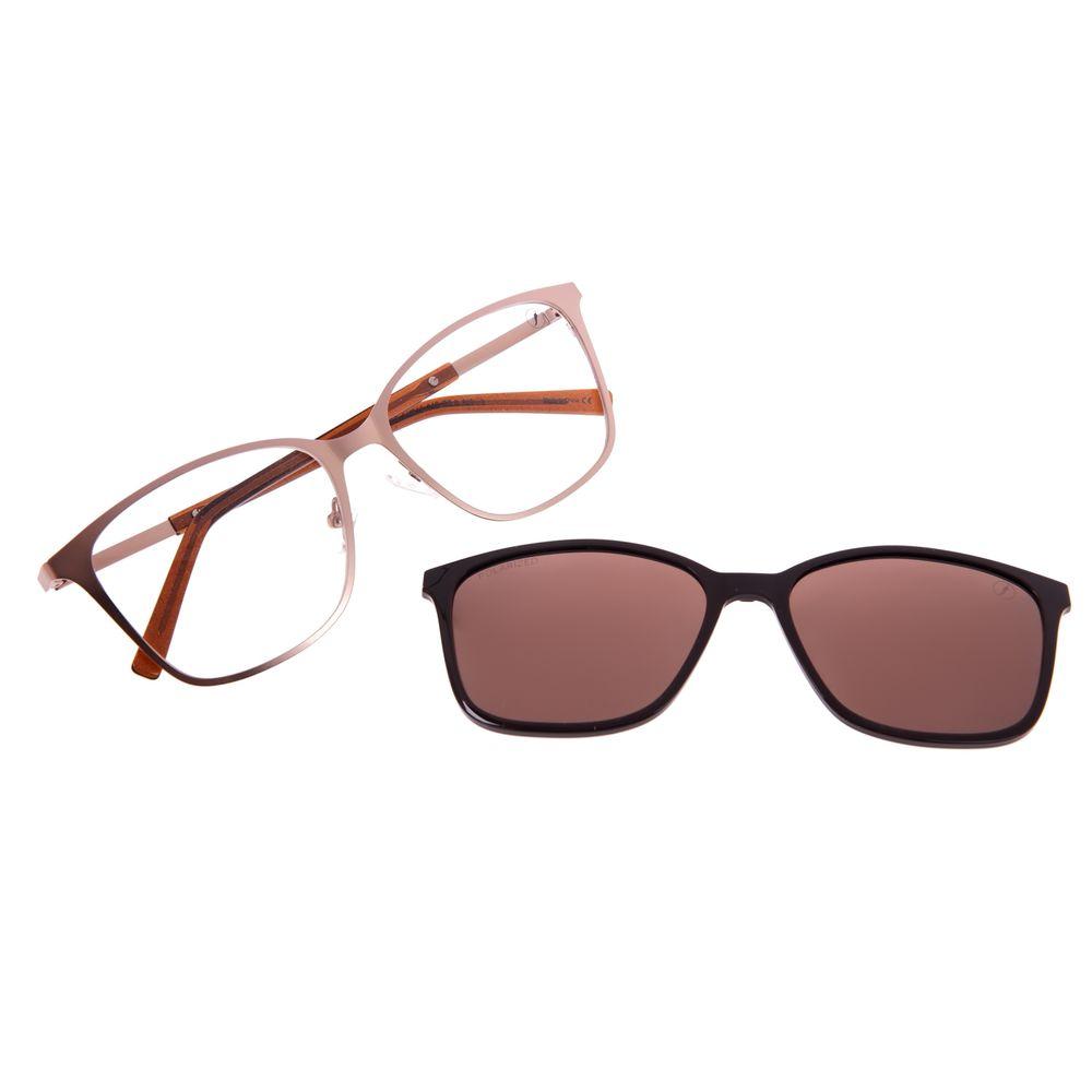 Armação Para Óculos De Grau Feminino Chilli Beans Essential Multi Marrom LV.MU.0521-0202