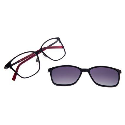 Armação Para Óculos De Grau Feminino Chilli Beans Essential Multi Preto LV.MU.0521-2001