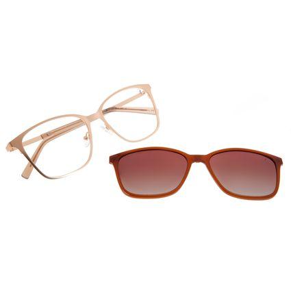 Armação Para Óculos De Grau Feminino Chilli Beans Essential Multi Dourado Claro LV.MU.0521-5764
