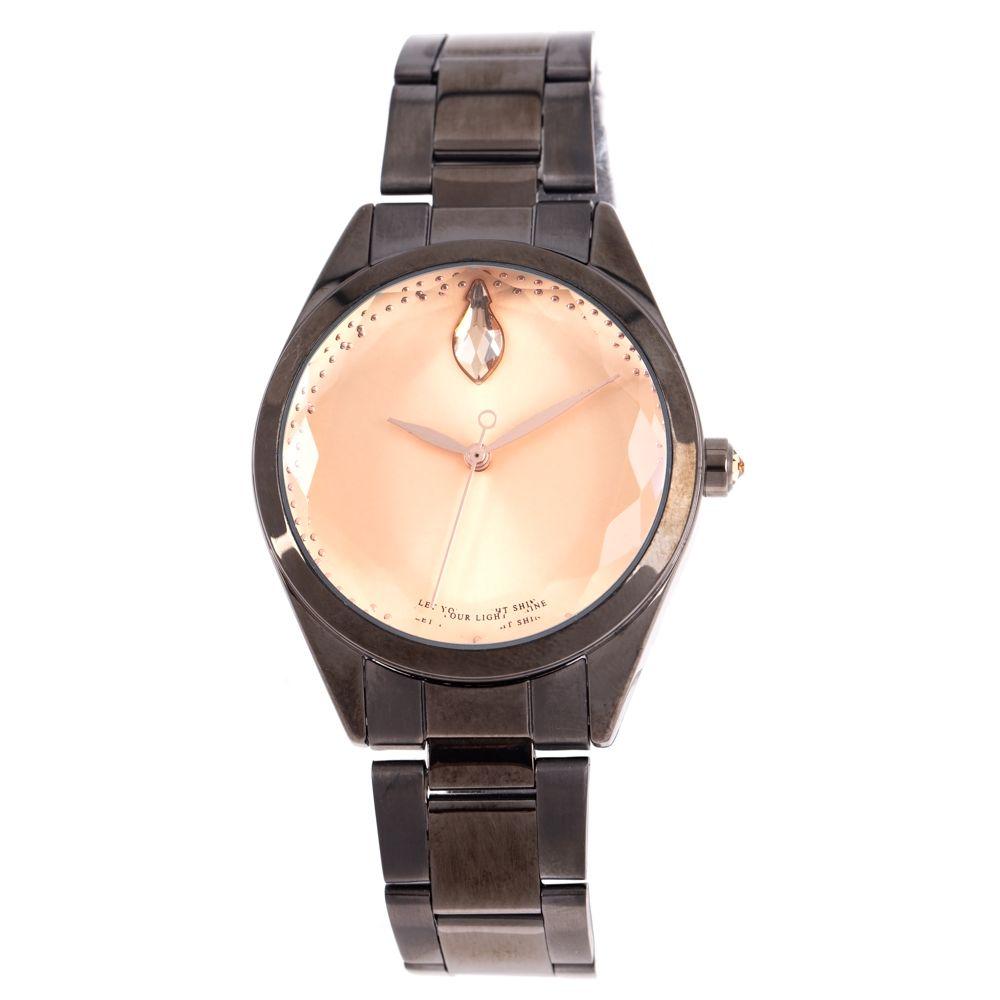 Relógio Analógico Feminino Swarovski Dia dos Namorados Facetado Ônix RE.MT.1192-9522