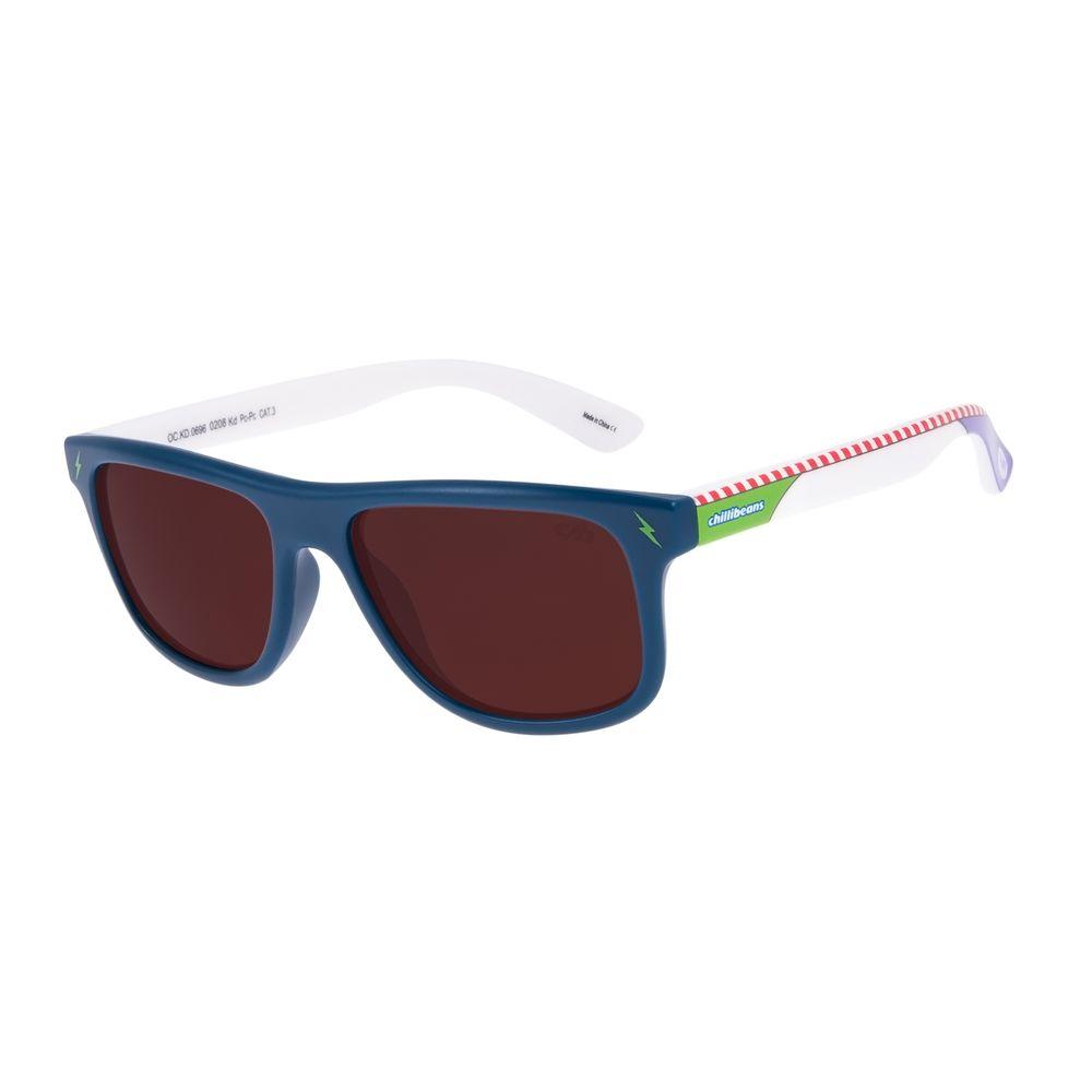 Óculos de Sol Infantil Toy Story Buzz Lightyear Quadrado Azul OC.KD.0696-0208