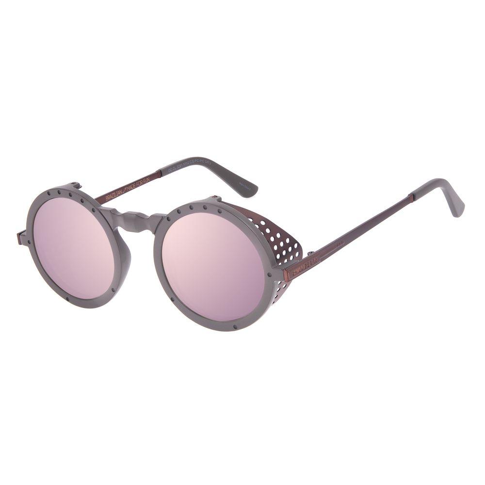 Óculos de Sol Unissex Alok Icônico Steampunk 2.0 Dia dos Namorados Marrom OC.CL.3291-5702