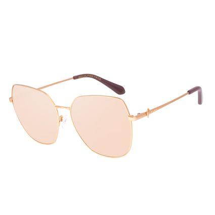 Óculos de Sol Feminino Swarovski Dia dos Namorados Quadrado Bege OC.MT.3059-2321