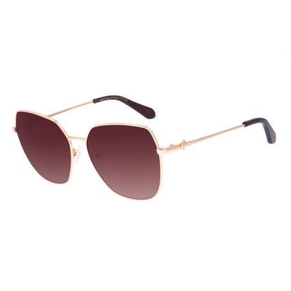 Óculos de Sol Feminino Swarovski Dia dos Namorados Quadrado Degradê Marrom OC.MT.3059-5721