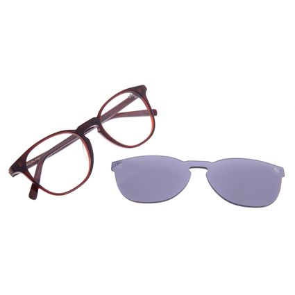 Armação Para Óculos Grau Unissex Chilli Beans Multi Redondo Cinza LV.MU.0155-0417