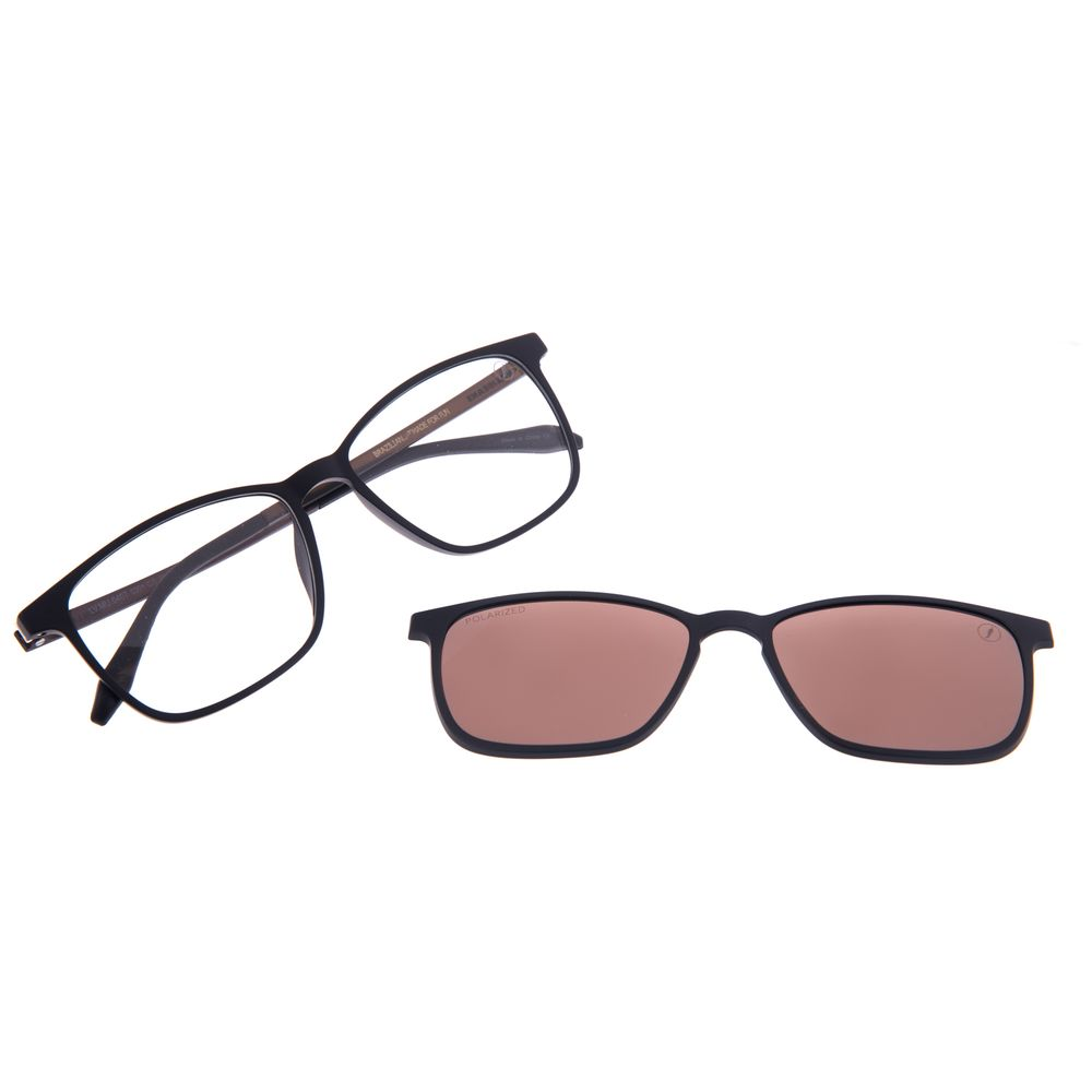 Armação Para Óculos De Grau Masculino Chilli Beans Essential Multi Preto Polarizado LV.MU.0407-0201