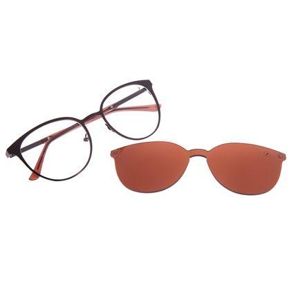 Armação Para Óculos de Grau Feminino Chilli Beans Multi Essential Metal Marrom LV.MU.0429-0202