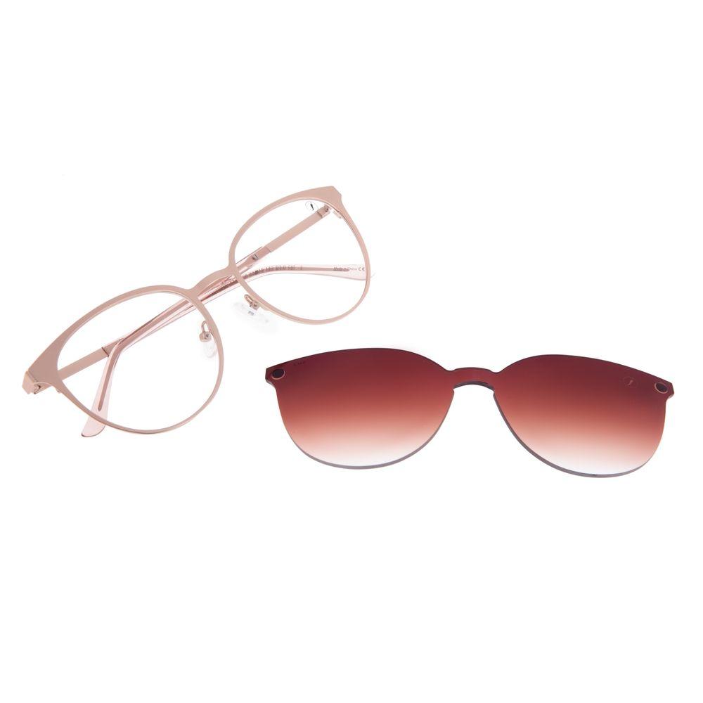 Armação Para Óculos de Grau Feminino Chilli Beans Multi Essential Metal Rosa LV.MU.0429-5794